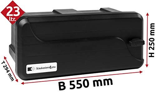 25l Unterbaubox oder Deichselbox für PKW Anhänger, Pritschenfahrzeuge, LKW Anhänger, Staubox, Werkzeugkiste, Gurtkiste