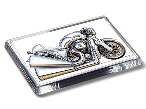 Koolart Cartoon Motorrad Egli Classic Touring Motorrad Starker Acryl Kühlschrank Magnet Wählen Sie eine Farbe, Silber