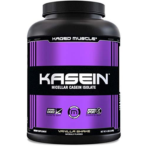 Kaged Muscle, Premium Kasein Protein Powder, Micellar Casein, Vanilla, Banned-Substance Free, Protein Supplement, Build Muscle, Boost Recovery, Casein, Vanilla, 50 Servings