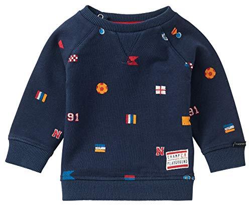 Noppies Baby-Jungen B Sweat LS Sprongerdorp AOP Sweatshirt, Peacoat-P590, 56