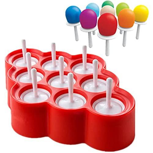 PMSMT Nuevo Silicona Mini Molde para paletas de Hielo bebé DIY Creativo Molde para paletas Molde para paletas de Grado alimenticio 9 Pegatinas