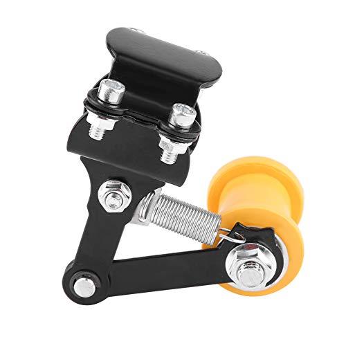 Keenso Motorrad Kettenspanner, Einstellbarer Kettenspanner 3,3cm Automatisch Motorrad Kettenspanner Allgemeine Motorrad Modifikationen Teile (Schwarz)