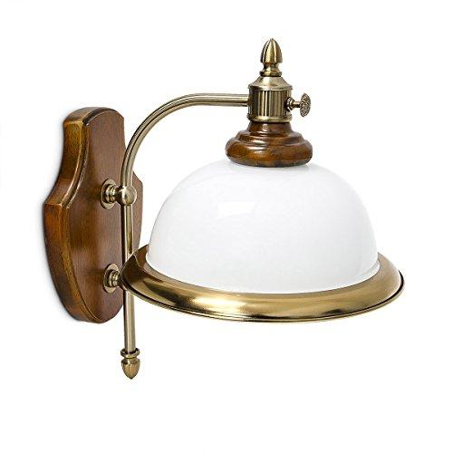 Relaxdays wandlamp klassiek met glazen scherm, E14
