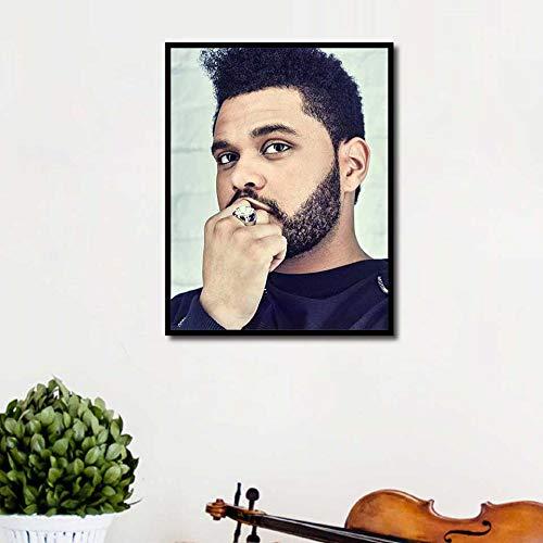 KWzEQ Wochenendplakat Rap Musik Sänger gedruckt Wandkunst Leinwand Bild Wohnzimmer Wohnkultur,Rahmenlose Malerei,50X67cm