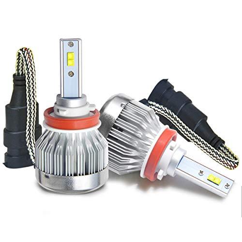 LASFIT H11/H8/H9 CREE LED Chips Fanless LED Headlight Bulbs 40W 6000LM 6000K Xenon White Hi/Lo/Fog Light(1 Pair)