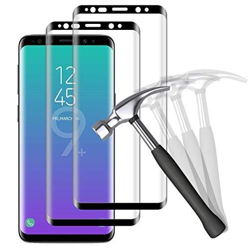 NUOCHENG Verre Trempé pour Samsung Galaxy S9 Plus, 2 Pièces 3D Couverture Complète, Dureté 9H, Anti Rayures, sans Bulles Film Vitre Protection d'écran Samsung S9 Plus