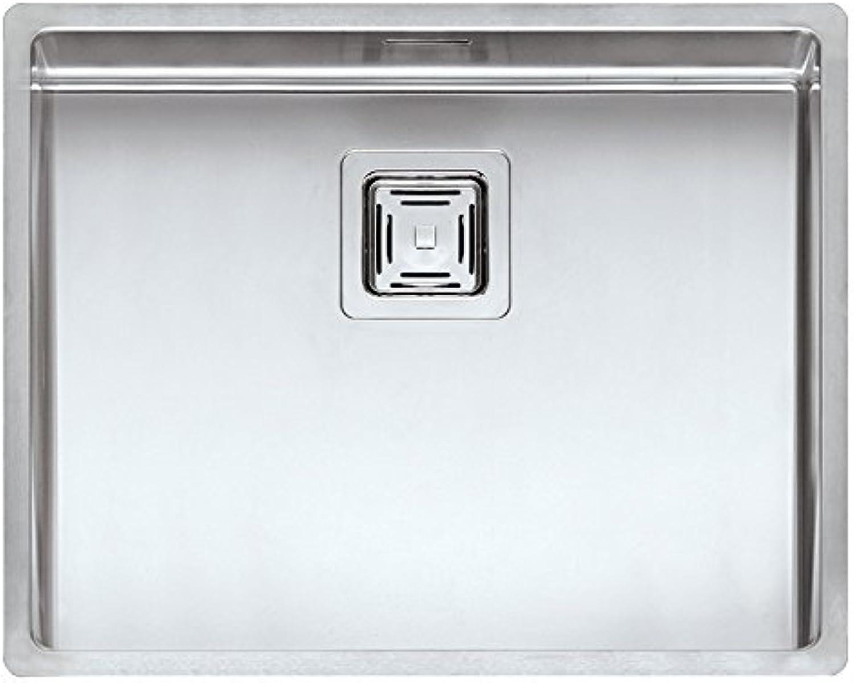 Reginox Elite TEXAS 50 x 40 (L) R10 Edelstahlspüle flchenbündig - Ausschnittma 520 x 420 mm   Spüle Edelstahl   Flacheinbau   Unterbau