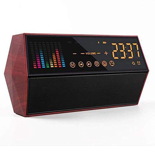 Altavoz Bluetooth, Radio Reloj Retro, Altavoz publicitario de Audio Inteligente Conexión inalámbrica Bluetooth Audio del Panel táctil