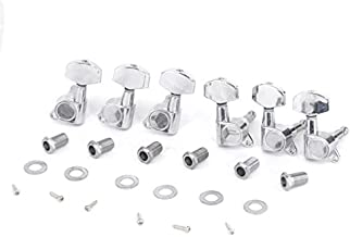 Musiclily Pro 3R3L Sealed Guitar Tuners Tuning Machines Set for Les Paul Style Electric Guitar or Fender Acoustic Guitar, Big Button Chrome