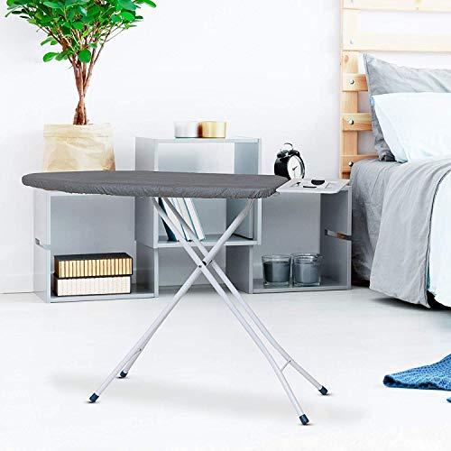 Oumffy Self Standing - Extra Large Foldable Ironing Board with Ironing Table with Iron Stand (IroningBoard-firozi) (Firozi)