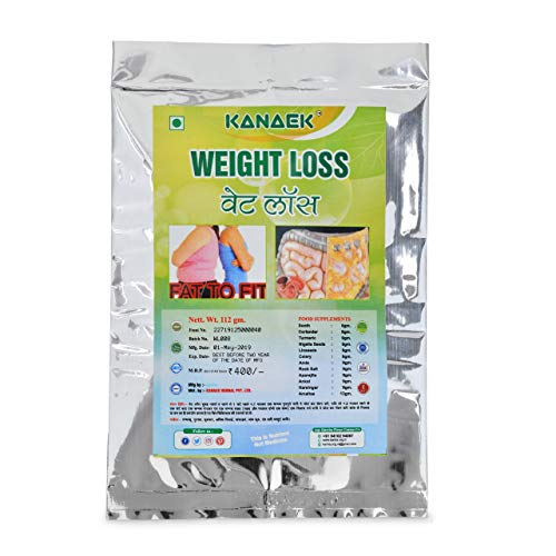 Kanaek Weight Loss Powder, certified by ISO and GMP, 100% natural, Net Wt 120gm.