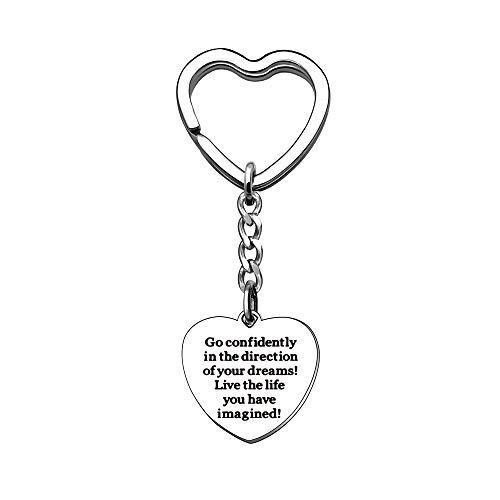 Llavero con colgante de corazón de plata para hija, hijo, amigas, hermanas, amantes, alianzas, accesorios