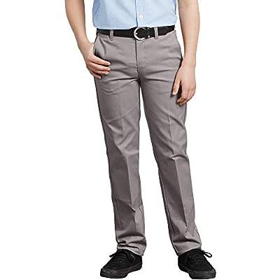 Dickies Boys' Big Flexwaist Slim Stretch Pant, Silver, 16