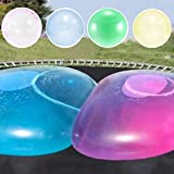 TIANTIAN 4Pack Water-Filled Bubble Ball Balloon Inflatable Water Ball Soft Rubber Ball for Outdoor Beach Pool Party large