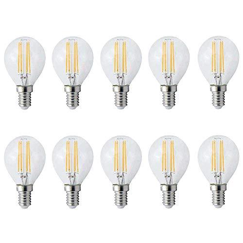 10 x LED Filament Leuchtmittel Tropfen 4W = 35W E14 klar P45 warmweiß 2700K