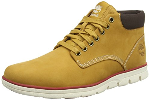 Timberland Herren Bradstreet Chukka Leather High-Top Braun (Wheat Nubuck) 43 EU