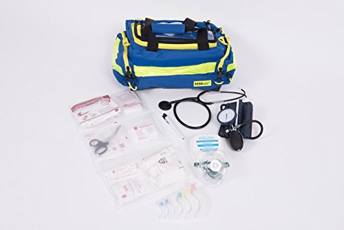 AKTION 3 - Notfalltasche Medium blau gefüllt mit Erste Hilfe Füllung MIH Medical