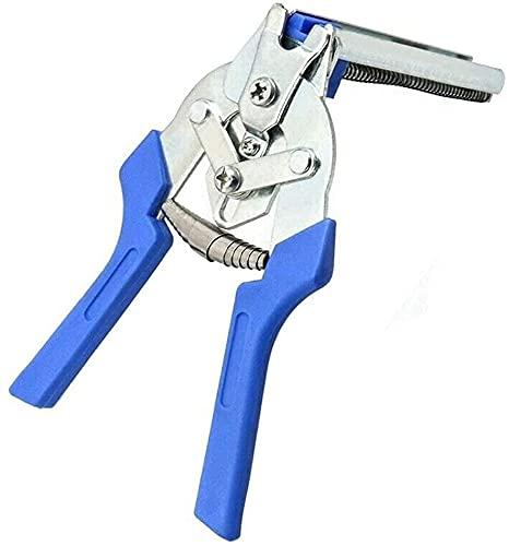 2021 Tipo M Alicates para anillos de uñas, Juego de alicates de abrazadera para anillos de cerdo con 600 piezas de clips M, Herramientas manuales de reparación de instalación Blue Pliers