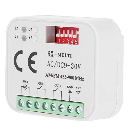 KSTE Fernbedienung für Garagentor, Empfänger, Universal Garage Tür Empfänger Fernbedienung für SMG-662MRX FAAC, SOMMER 300 – 900 MHz