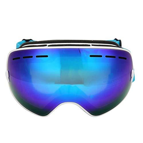 WENHANGshidai Gafas de esquí unisex antivaho para exteriores, doble lente grande, esférica, gafas de máscara para hombres y mujeres (azul)