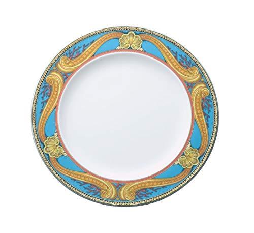 Versace Les Trésors De La Mer Plato Llano, Porcelana, Azul, 28x28x2.5 cm