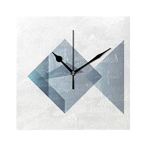 FAJRO - Reloj Despertador Cuadrado, diseño de pez de Origami