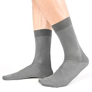 Ciocca Calcetines de hombre, 100% algodón mercerizado Filo di Scozia de alta calidad – 6 pares – tres tallas Socks