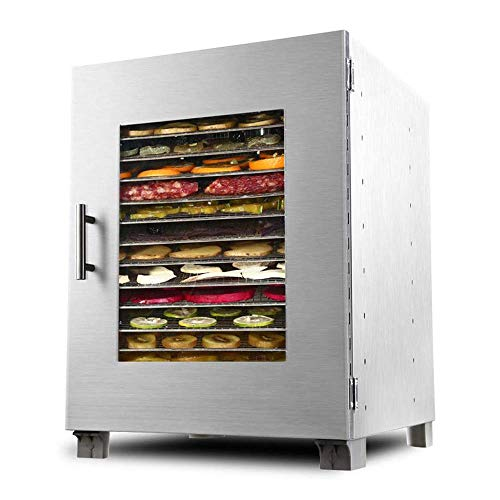 Droger-elektrisch digitaal digitaal scherm instelbaar temperatuurpunt stil 16 lagen roestvrij stalen container droge voedselmachine gedehydrateerd voedsel voor commerciële 1200W