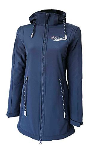 Dry Fashion Damen Softshellmantel Sylt No.2, Farbe:blau, Größe:50