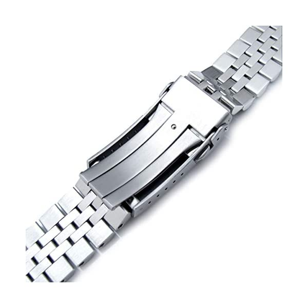 MiLTAT 22mm Watch Band for Seiko Turtle SRP775 SRP777 SRPA21, Super-J Solid Screw-Links