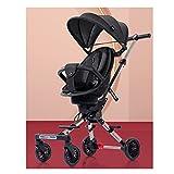 jiji sillas de Paseo Cochecito Ligero liviano Simplemente súper pequeños cochecitos para Ver el Paisaje, artefacto de bebé Deslizante, Sentado de Dos vías Cochecito de bebé