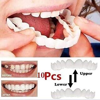 5セットアッパー+ロア再使用可能成人ホワイトニング義歯フィットフレックス化粧品歯快適なベニヤカバーデンタルケアアクセサリー