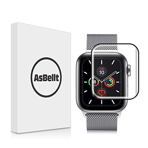 AsBellt Protector Pantalla para Apple Watch 44mm Series 6 5 4 SE Cristal Vidrio Templado para iWatch 44mm Serie 6/5/4/SE Hermès, Nike+ Edition