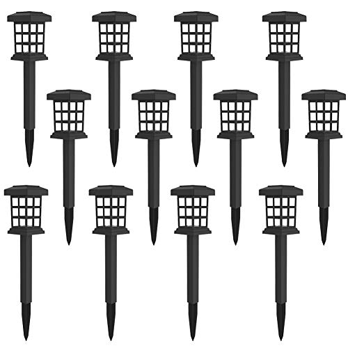 MAGGIFT 12 Pack Solar Pathway Lights Outdoor LED Solar Powered Garden Lights for Lawn, Patio, Yard, Walkway, Driveway