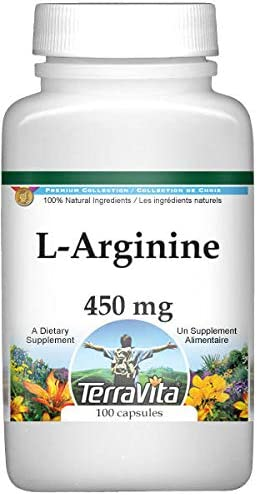 L-Arginine - 450 mg Recommended Popular products 100 Capsules ZIN: 525256