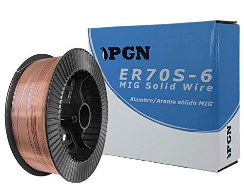 """PGN - ER70S-6 .023"""" (0.6 mm) Mild Steel MIG Welding Wire - 11 Lbs Spool"""