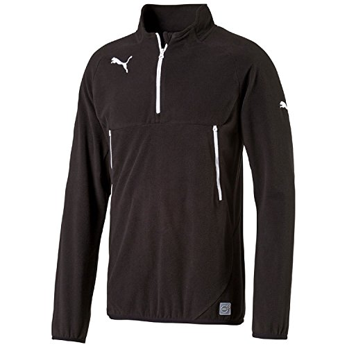 PUMA Herren Fleecejacke Training Fleece Trainingssweatshirt, Black/white, M