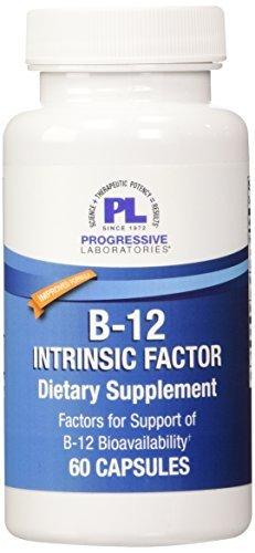 Progressive Labs B-12 Intrinsic Factor Supplement, 60 Count by Progressive Labs