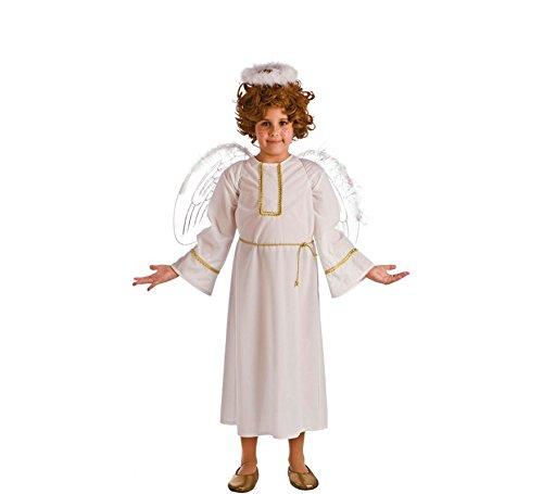El Rey del Carnaval Disfraz de Ángel Blanco para niños: Amazon.es ...