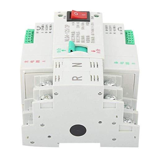 Interruptor de transferencia Dual, AC 230V 2P 63/80/100A Interruptor de palanca de transferencia automática de doble potencia(80A)