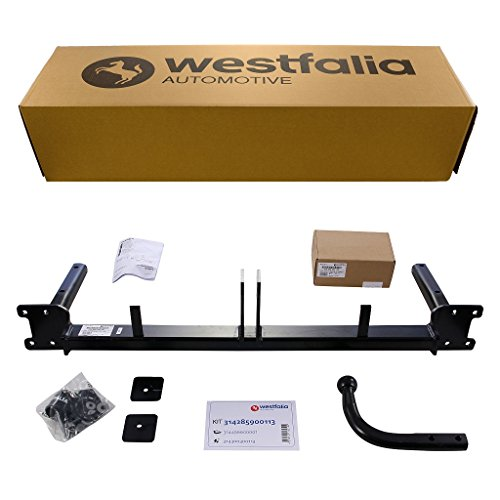 Westfalia Starre Anhängerkupplung für Opel Astra H Caravan (BJ 10/2004 - 11/2010) im Set mit 13-poligem fahrzeugspezifischen Westfalia Elektrosatz