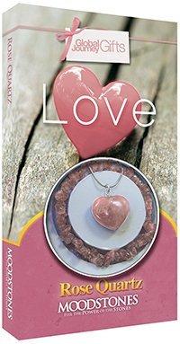 Moodstones Rose Quartz Necklace & Bracelet Set 'LOVE'