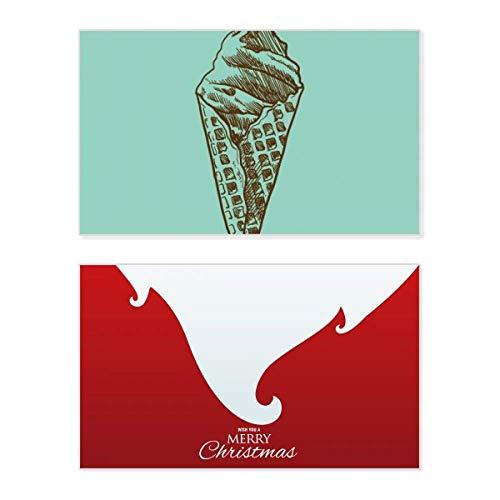 Weihnachtskarte mit cremefarbener Schokolade, Eiswaffeln