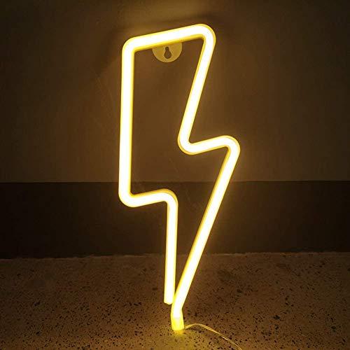 Euch Luces LED decorativas en forma de flash, funciona con pilas o USB, que se puede utilizar en hogares, habitaciones de niños, bares, fiestas (luz cálida).