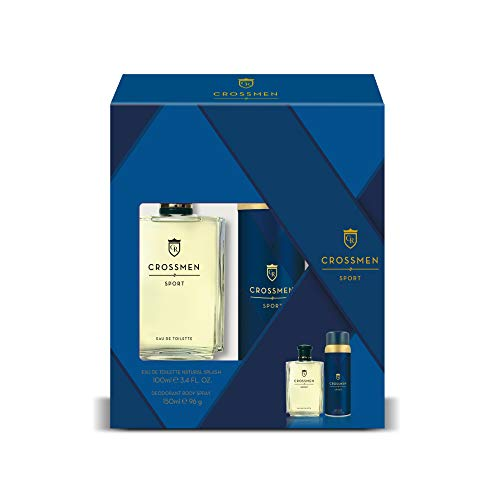 Crossmen Sport Set para Hombre: Eau de Toilette Natural Splash 100 ml + Desodorante Body Spray 150 ml