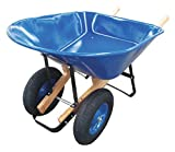 Wheelbarrow, Steel, 8 cu. ft, 2 Pneumatic