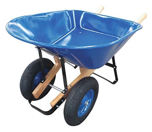 Wheelbarrow, Steel, 8 cu. ft, 2 Pneumatic