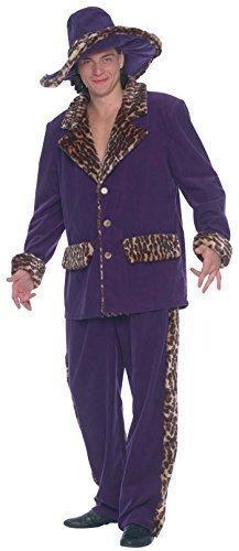 Hommes Violet Impression Animal Bordure Années 1920 Costume Gangster Proxénète Costume déguisement