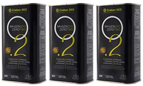 3x 1,0l Kanister 0,2% Olivenöl Cretan Olive Mill | Mildes extra natives Olivenöl mit sehr geringem Säuregehalt | + 1 x 20ml Olivenöl