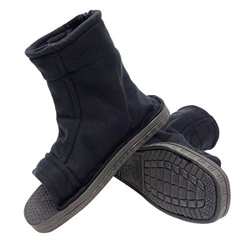 DAZCOS Unisex Black Shippuden Ninja Shoes [US 5 - US 11] [ Adult/Child ] (2.5 M US)